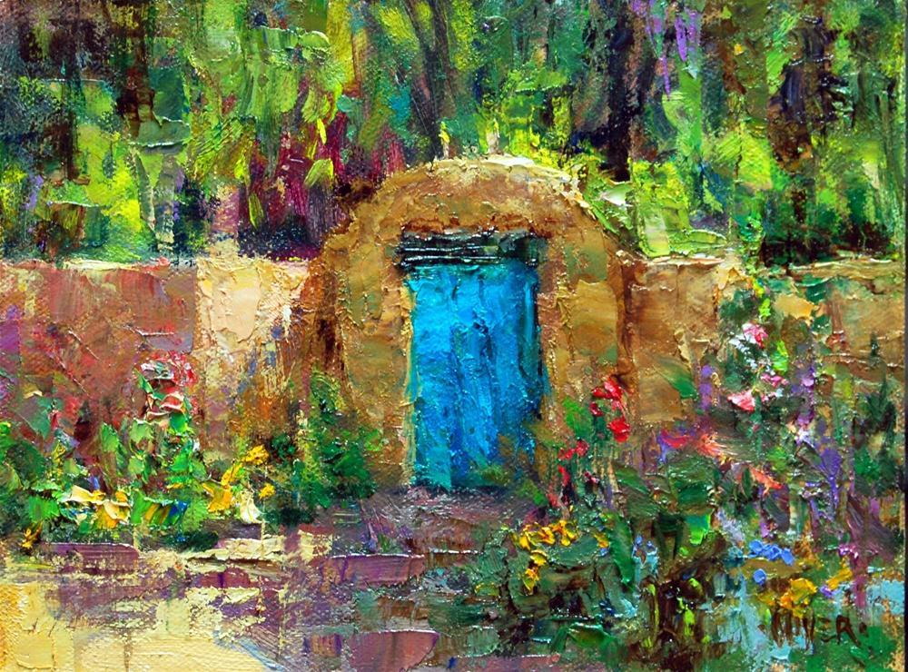 """Albuquerque Gate, N.M."" original fine art by Julie Ford Oliver"