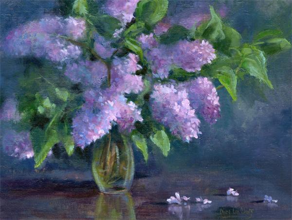 """Lilacs"" original fine art by Maryann Cleary"