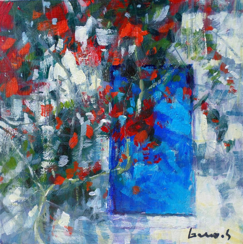"""""""The blue door"""" original fine art by salvatore greco"""