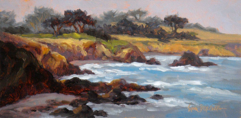 """""""Misty Headlands"""" original fine art by Erin Dertner"""