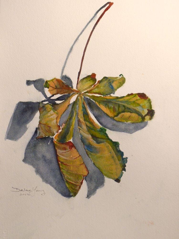 """564 Chestnut Leaf"" original fine art by Darlene Young"