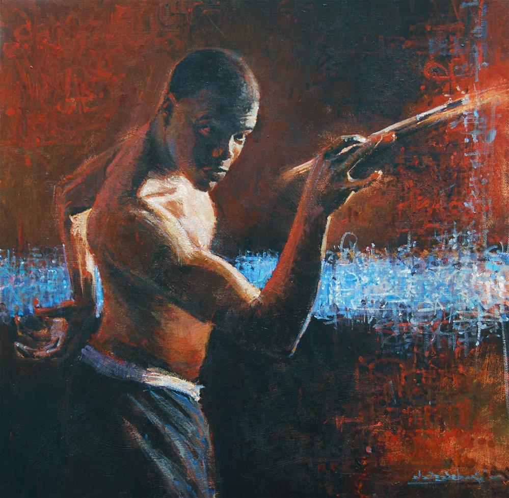 """Self Portrait-"" original fine art by Adebanji Alade"