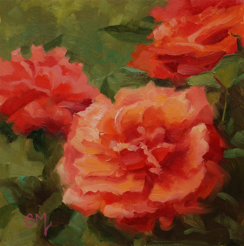 """Antique Rose at Home"" original fine art by Susan McManamen"