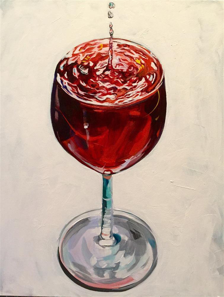 """""""Say 'When'"""" original fine art by Lauren Kuhn"""
