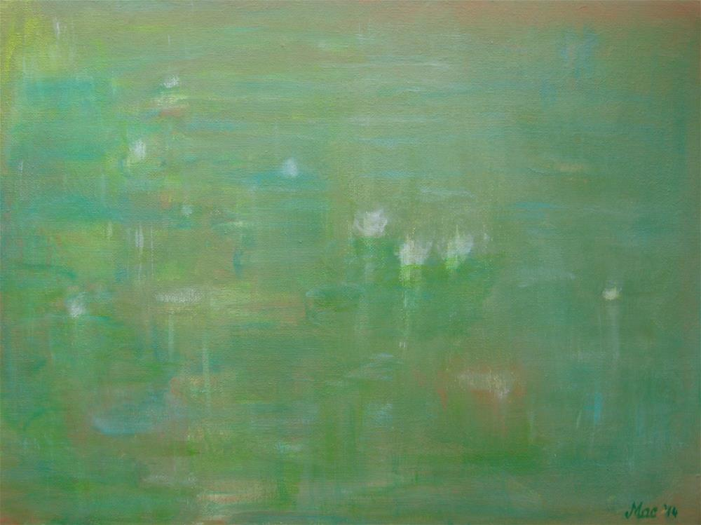 """Lily Pond"" original fine art by Alina Frent"