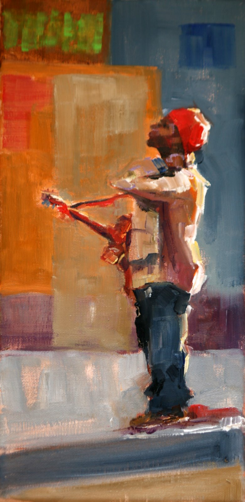 """working out the kinks"" original fine art by Carol Carmichael"