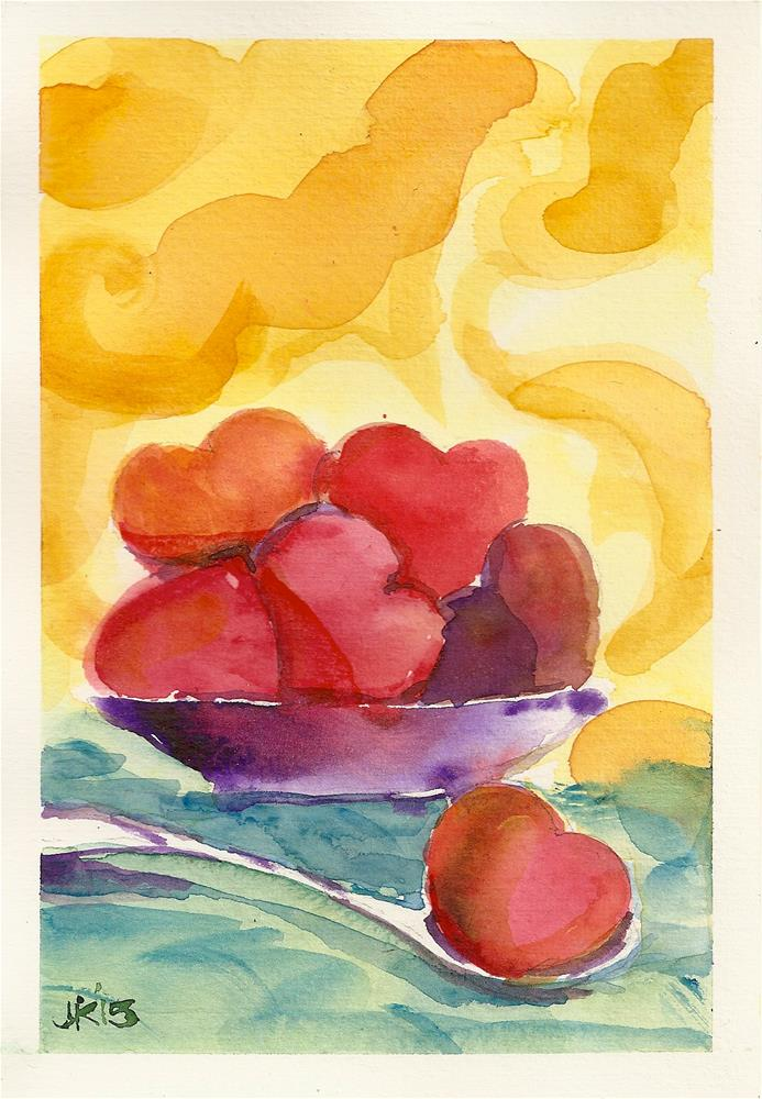 """Steaming Hearts"" original fine art by Jean Krueger"