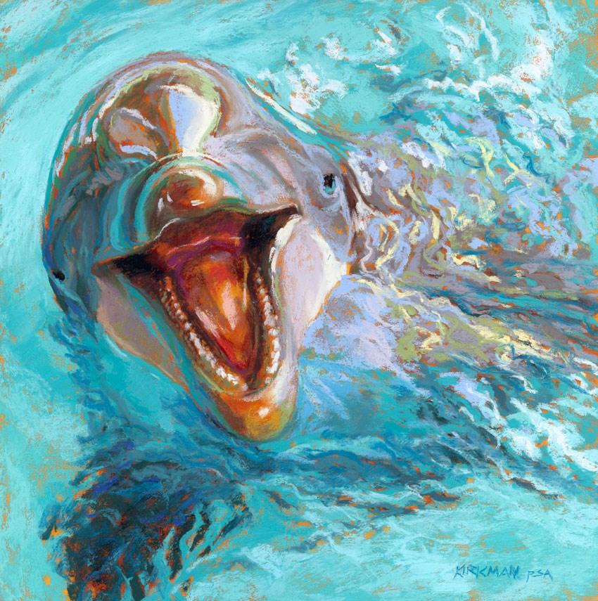 """D is for Dolphin"" original fine art by Rita Kirkman"