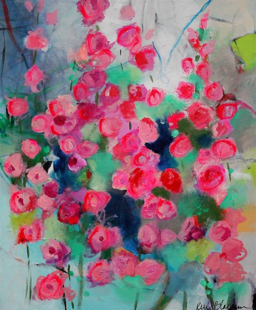 """Hollyhocks"" original fine art by Kerri Blackman"