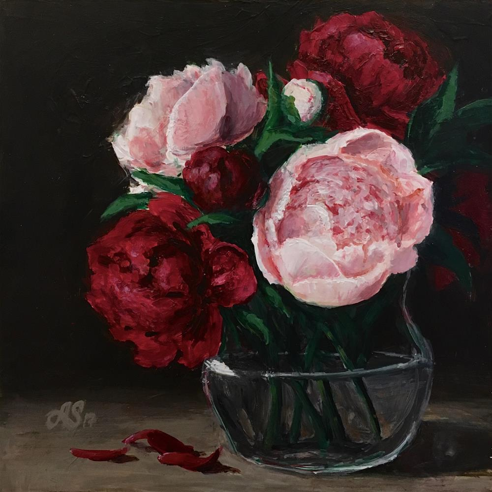 """Peonies of love"" original fine art by Anna Starkova"