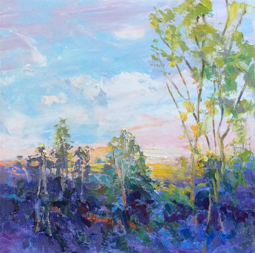 """Purple Hills"" original fine art by Charlotte Fitzgerald"