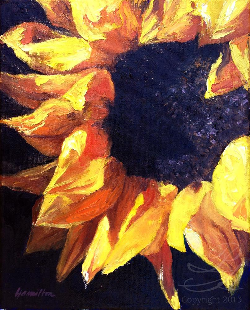 """Sunflower"" original fine art by Pamela Hamilton"