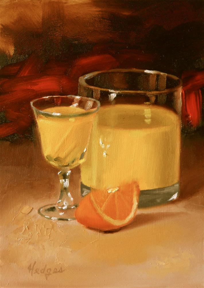 """""""Orange Juice"""" original fine art by Bruce Hedges"""