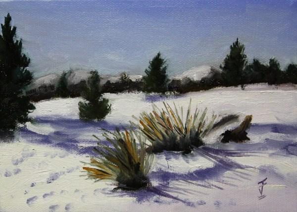 """""""Snowbound"""" original fine art by Jane Frederick"""
