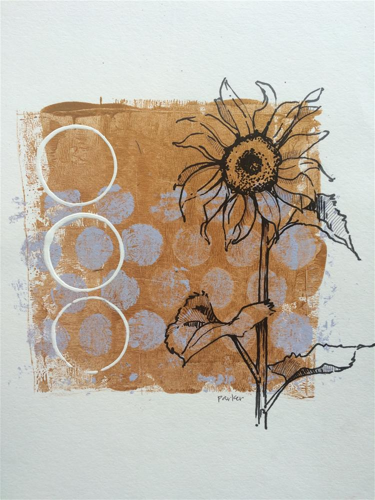 """Sunflower Print"" original fine art by Teddi Parker"