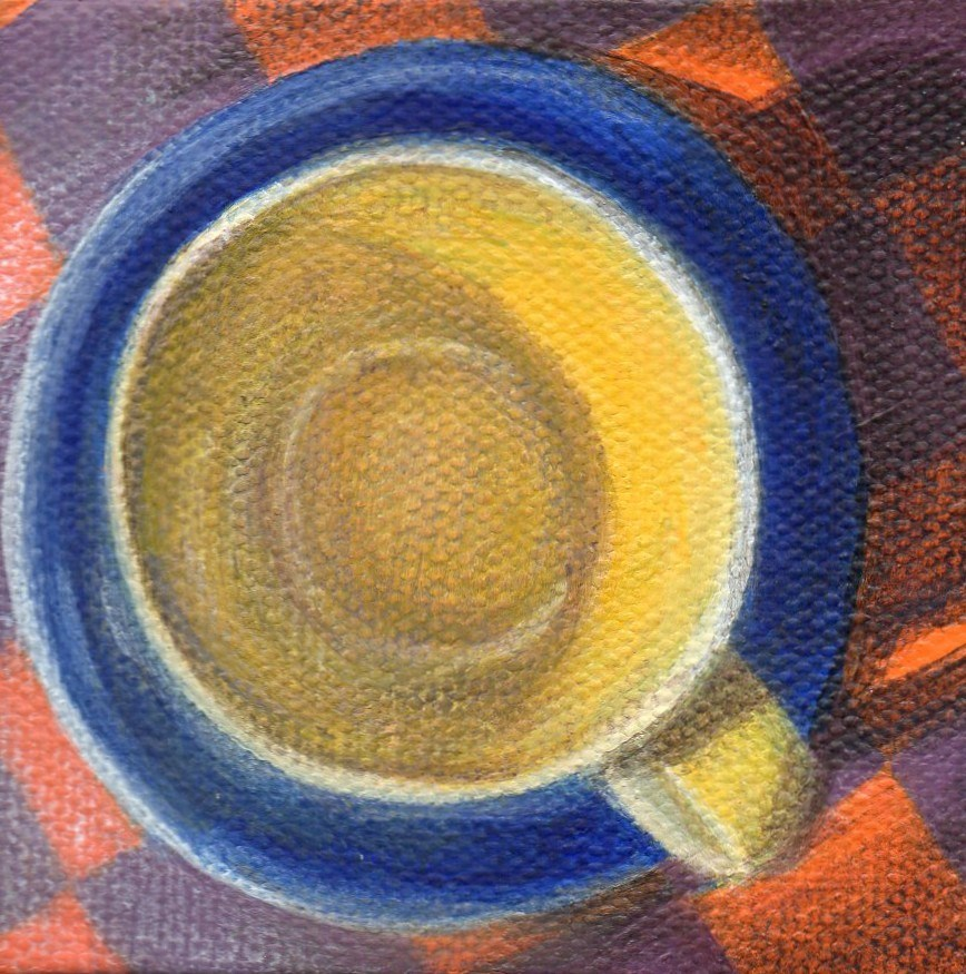 """Breakfast Set"" original fine art by Debbie Shirley"