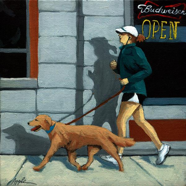 """Getting in Shape"" original fine art by Linda Apple"