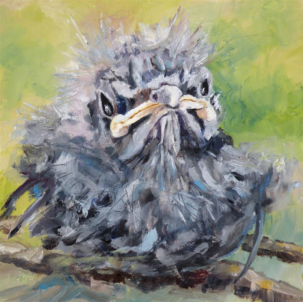 """Mockingbird Baby"" original fine art by Saundra Lane Galloway"