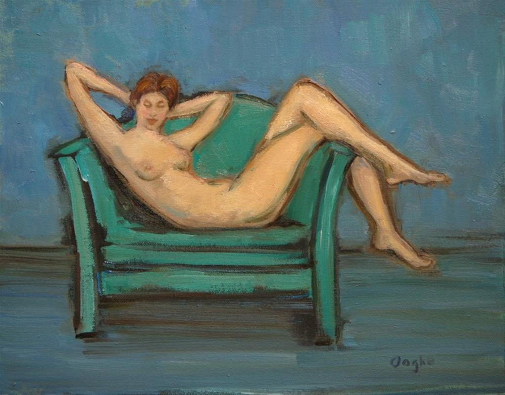 """""""Smiling Nude"""" original fine art by Angela Ooghe"""