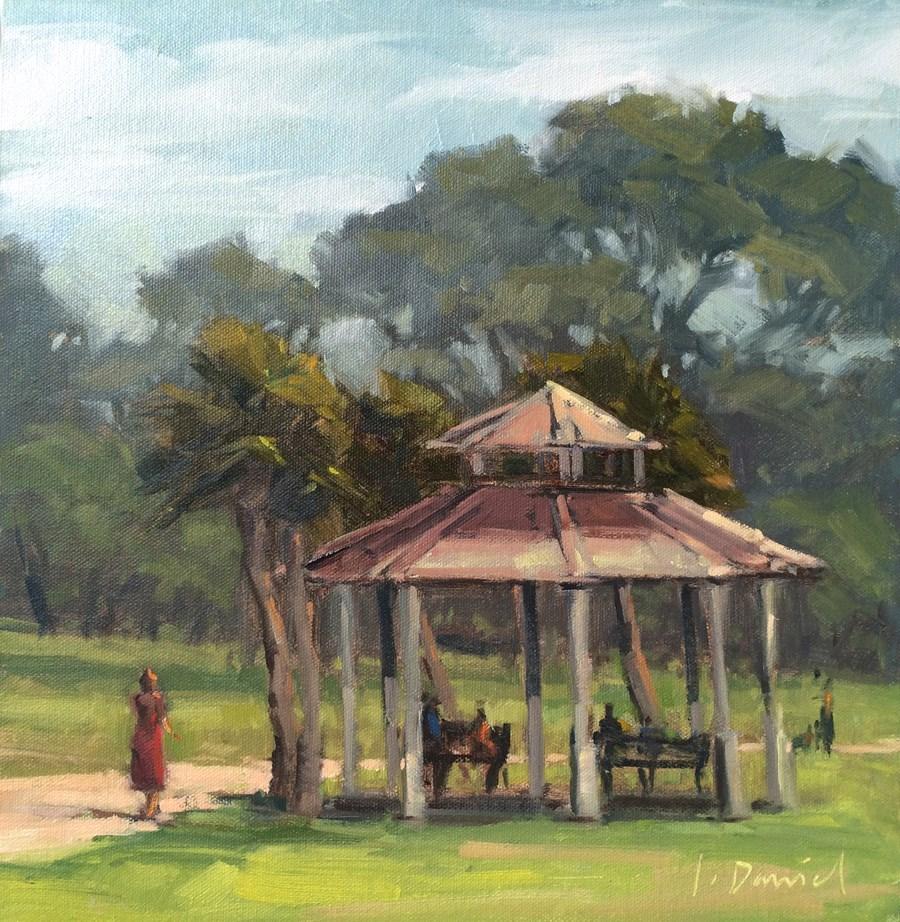 """Park Gazebo"" original fine art by Laurel Daniel"