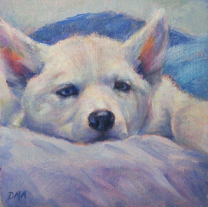 """Bullet, the Wonder Dog"" original fine art by Debra Ames"