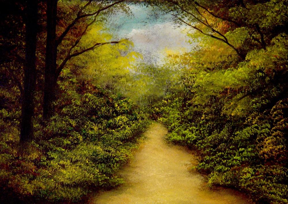 """Mysterious Path"" original fine art by Bob Kimball"