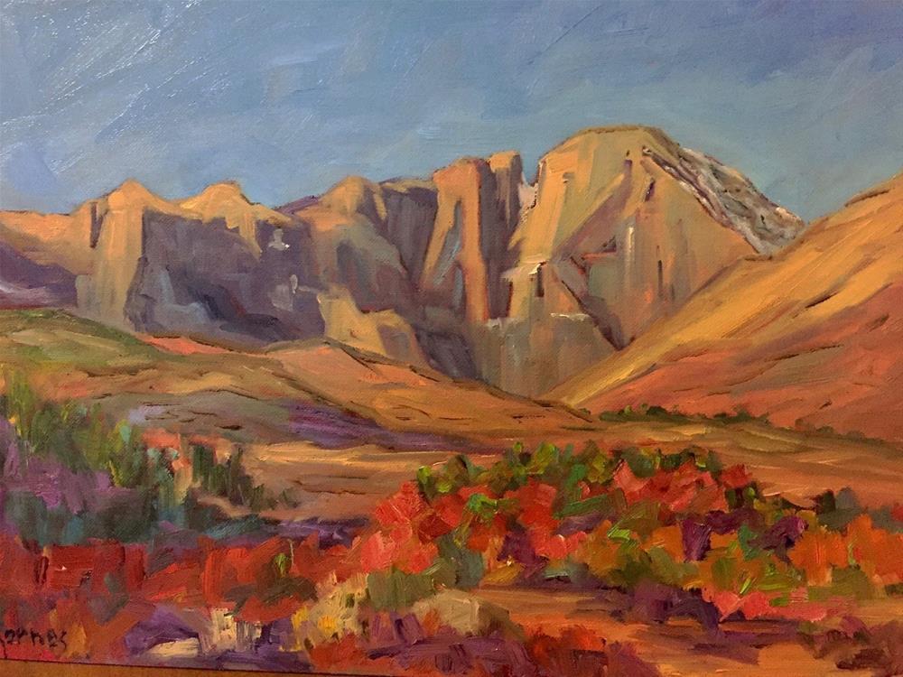 """Fall at Longs Peak"" original fine art by Liz Zornes"