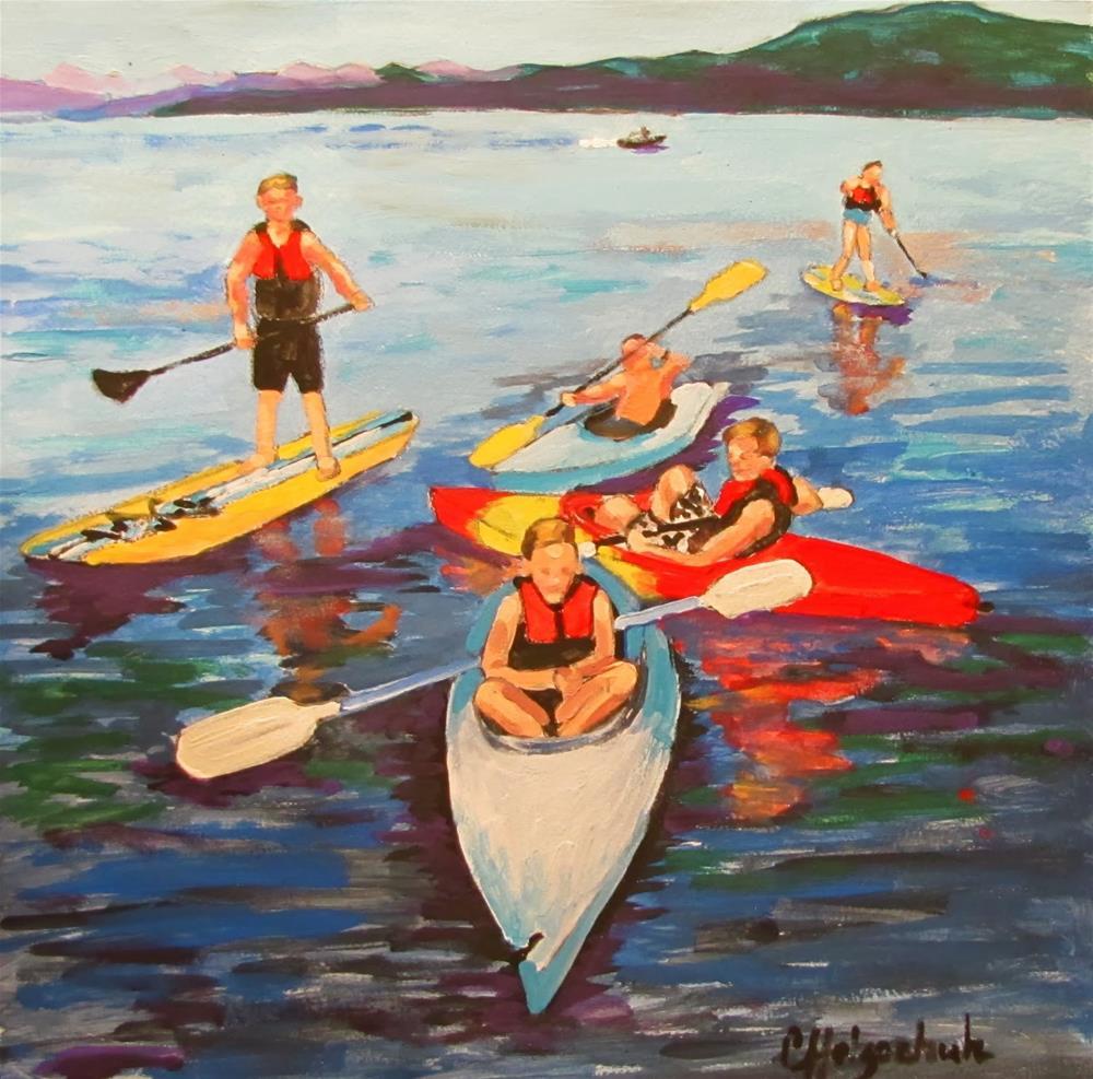 """Summer Fun"" original fine art by Christine Holzschuh"