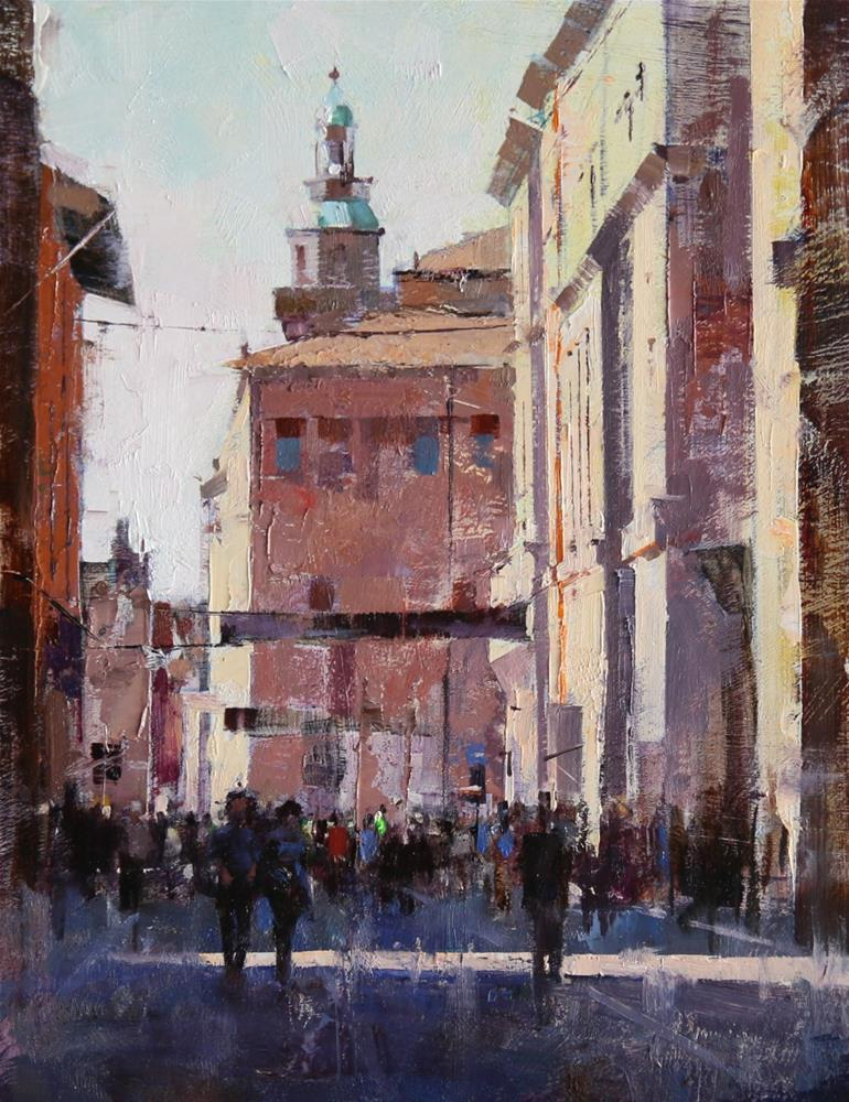 """T-Day in Bologna"" original fine art by Qiang Huang"