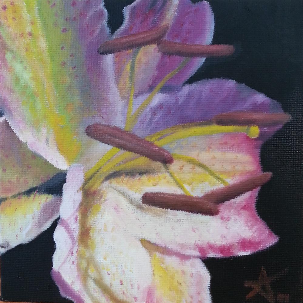 """""""Lily 80"""" original fine art by Konstantia Karletsa"""