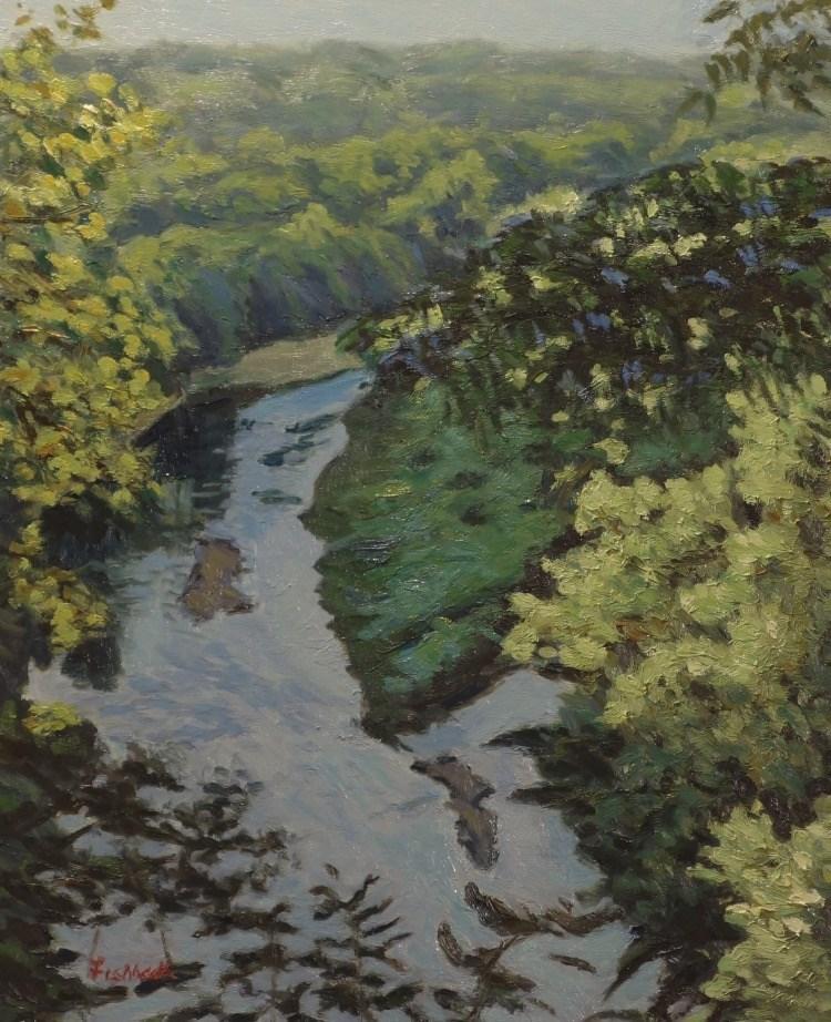 """Meramec View"" original fine art by Daniel Fishback"