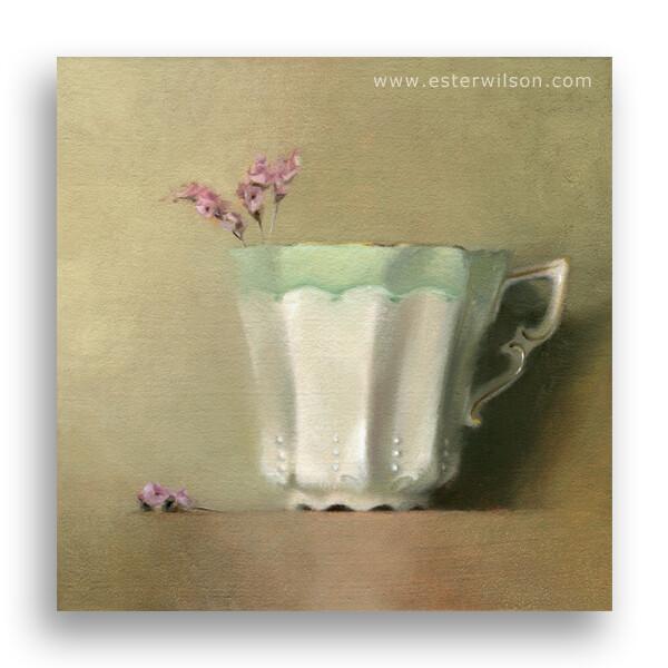"""""""Green Tea"""" original fine art by Ester Wilson"""