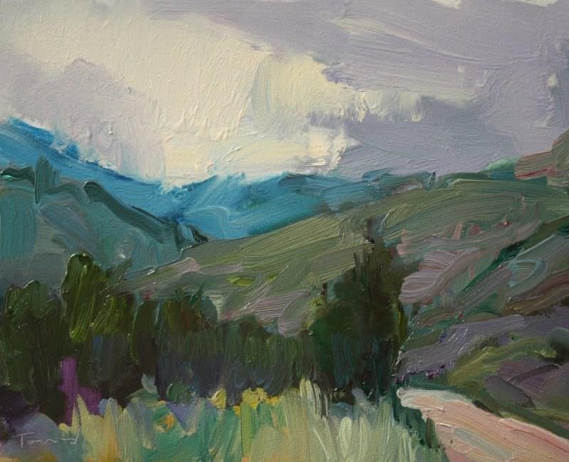 """Up From Winthrop"" original fine art by Kathryn Townsend"