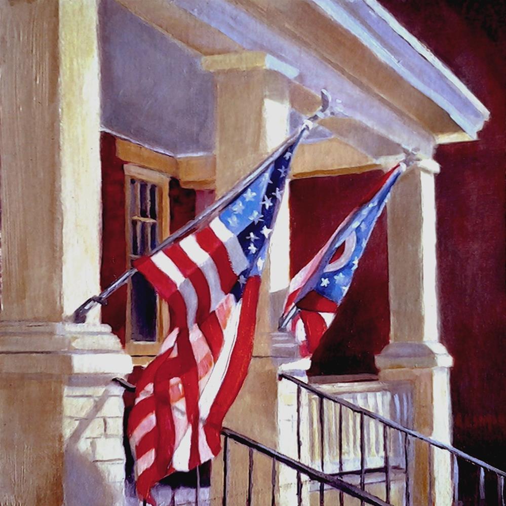 """""""Home & Country"""" original fine art by A.K. Simon"""