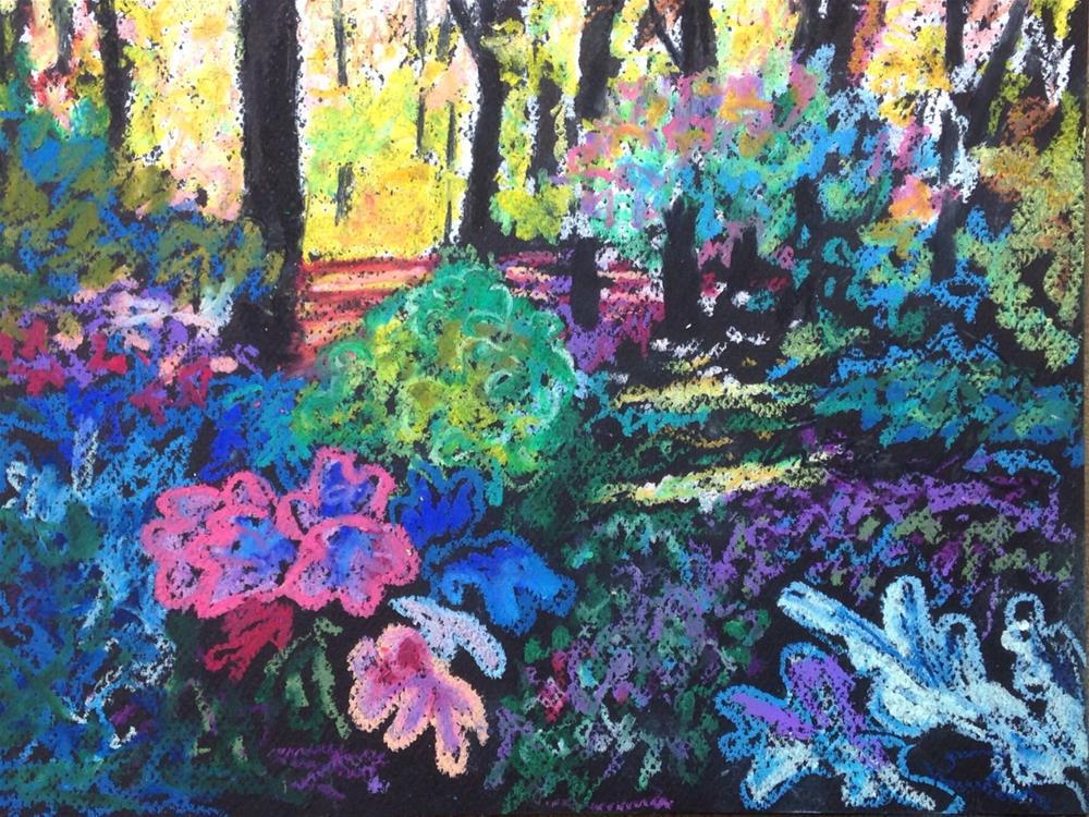 """Leah's Backyard"" original fine art by Ande Hall"