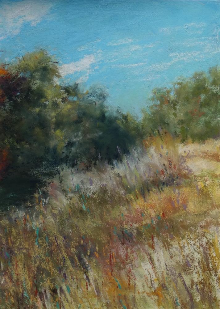 """Autumn Grasses"" original fine art by Denise Beard"