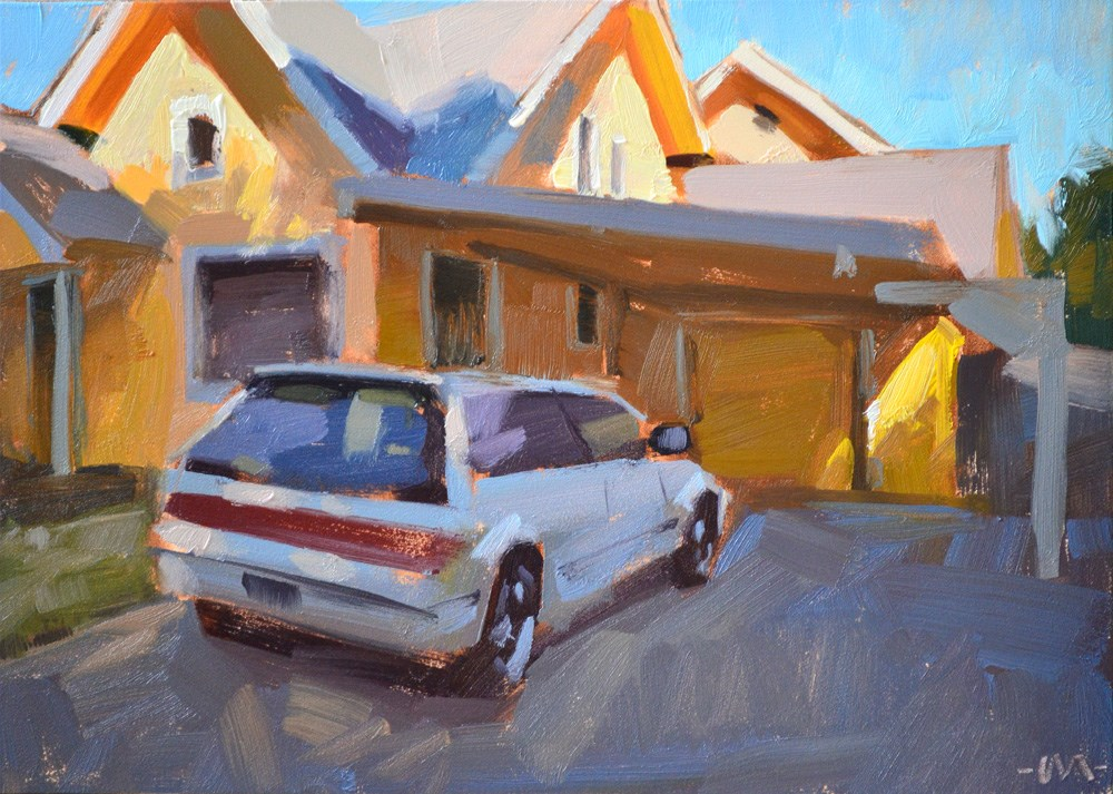 """My Yellow House"" original fine art by Carol Marine"