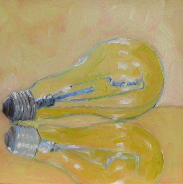 """Bright Idea"" original fine art by Mb Warner"