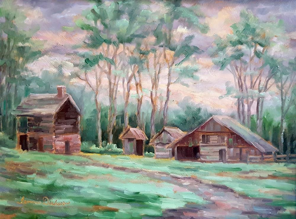 """Morning at the Farm"" original fine art by Tammie Dickerson"