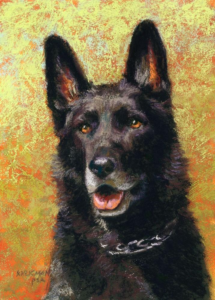 """""""Day 9 - Willie, a Pet Portrait Commission"""" original fine art by Rita Kirkman"""