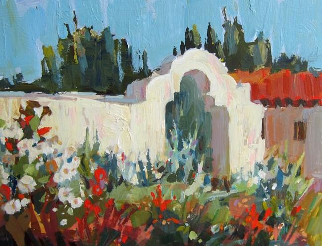 """""""Carmel Mission"""" original fine art by Patti Mollica"""