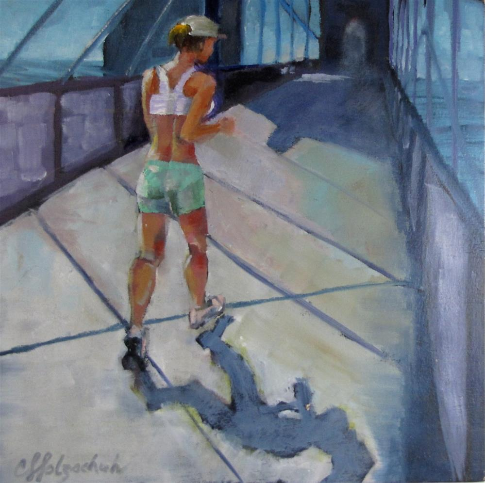 """Morning Jog"" original fine art by Christine Holzschuh"