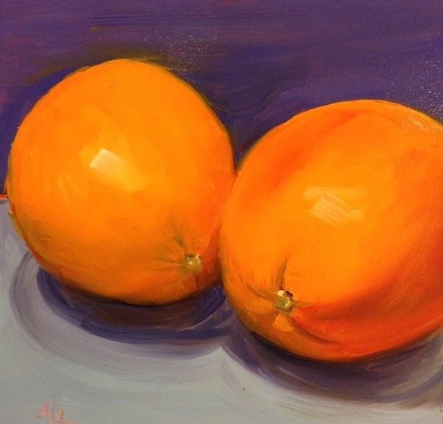 """""""Orange Ya Glad"""" original fine art by Marjie Laizure"""