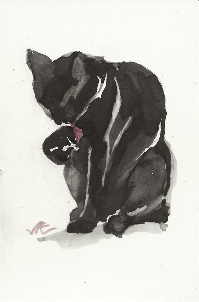 """Daily Cat 96"" original fine art by Jean Krueger"