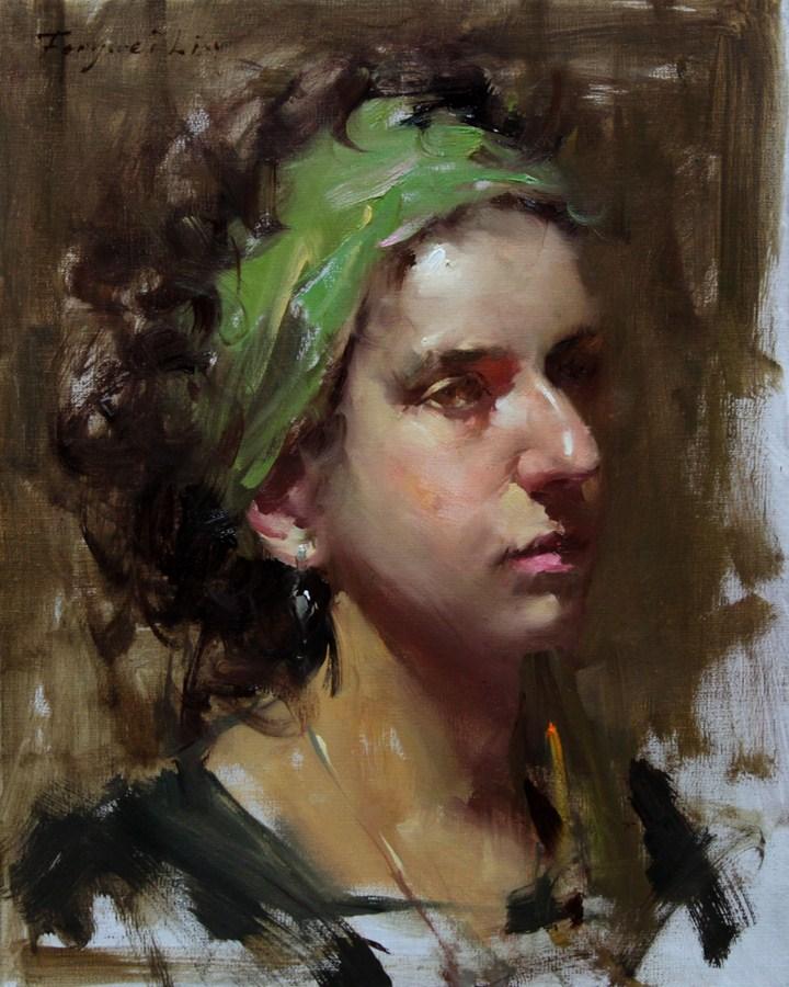 """""""Young Girl"""" original fine art by Fongwei Liu"""