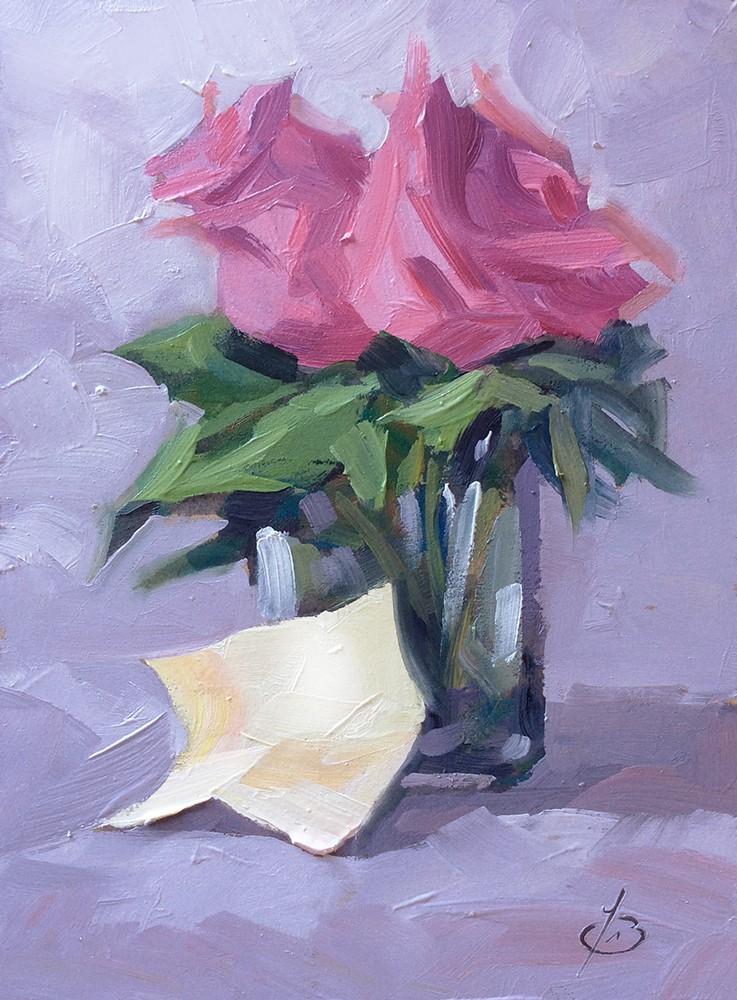"""LOVE LETTER"" original fine art by Tom Brown"