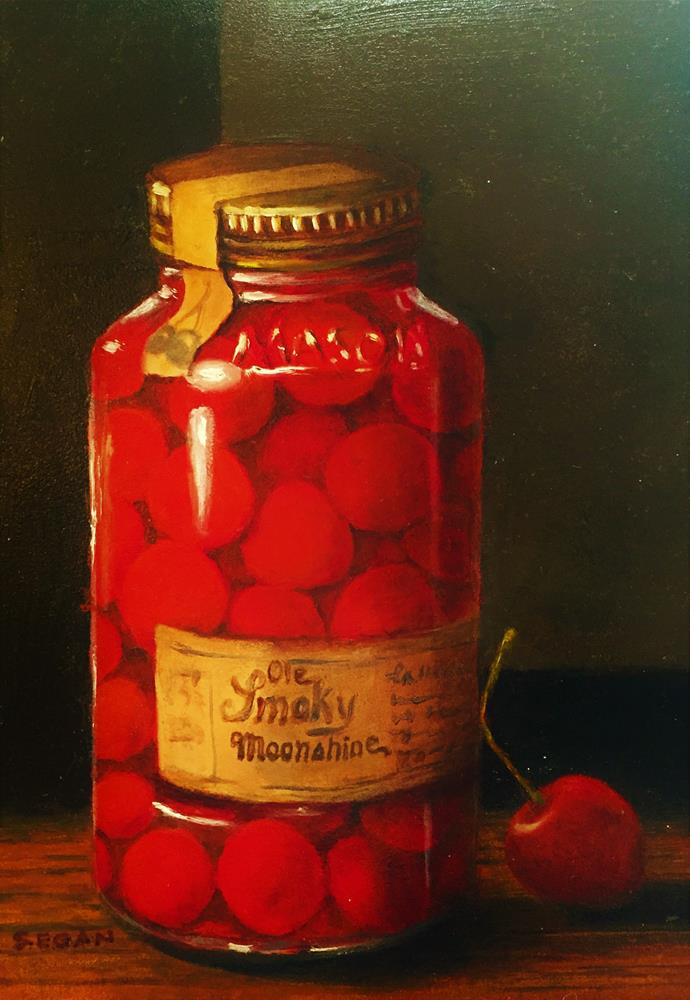 """Ole Smoky Moonshine Cherries"" original fine art by Sharon Egan"