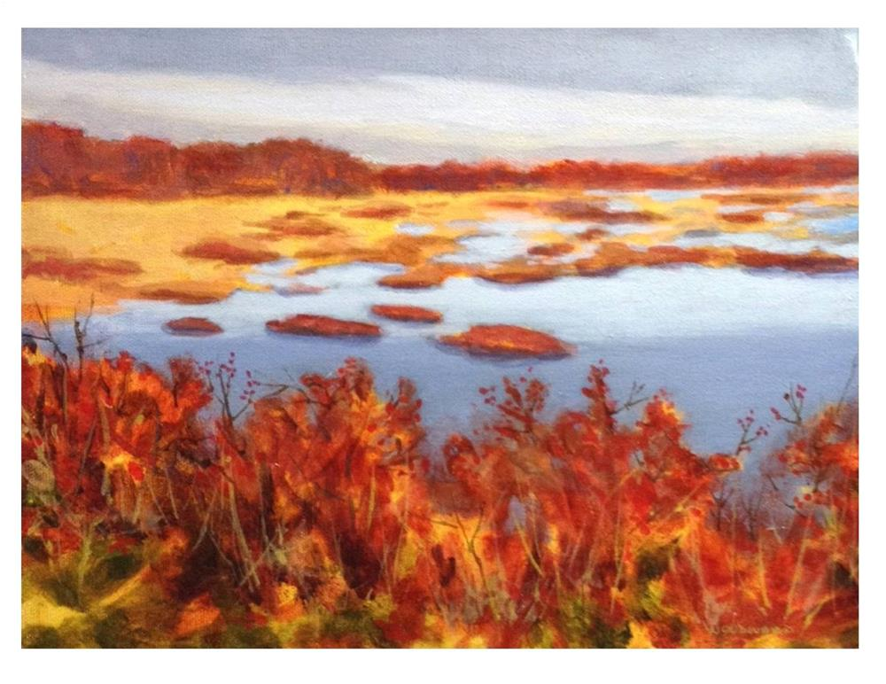 """""""Marsh View From The Eastern Trail"""" original fine art by Suzanne Woodward"""