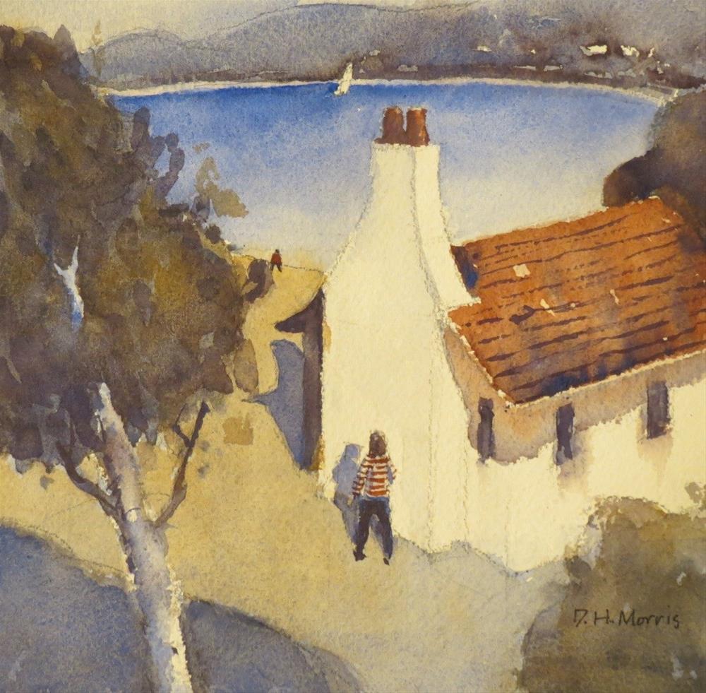 """Sailboat!"" original fine art by Dann Morris"