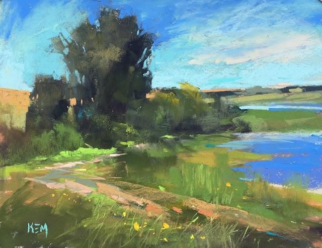 """Back in the Studio .....Ireland was Grand!"" original fine art by Karen Margulis"